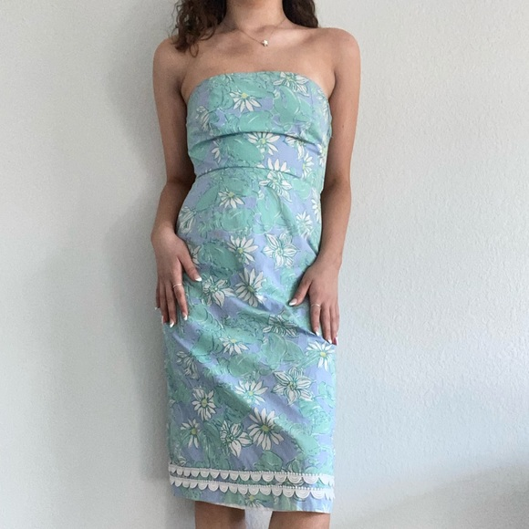 Floral Lilly Pulitzer sleeveless dress Size 2